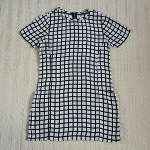 ABERCROMBIE Grid T-Shirt Dress